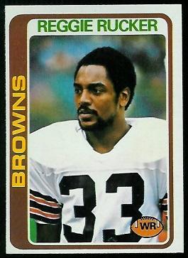 Reggie Rucker 1978 Topps football card