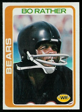 Bo Rather 1978 Topps football card