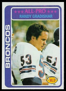 Randy Gradishar 1978 Topps football card