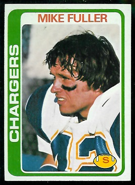 Mike Fuller 1978 Topps football card