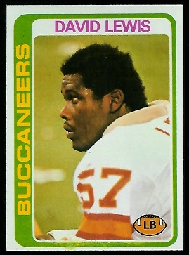 David Lewis 1978 Topps football card