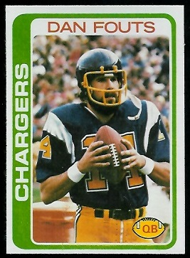 Dan Fouts 1978 Topps football card