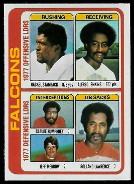 Falcons Leaders 1978 Topps football card