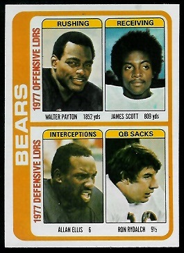 Bears Leaders 1978 Topps football card