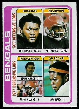Bengals Leaders 1978 Topps football card
