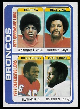 Broncos Leaders 1978 Topps football card