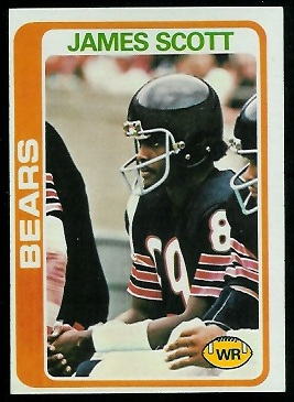 James Scott 1978 Topps football card