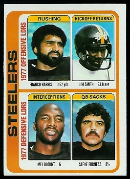 Steelers Leaders 1978 Topps football card