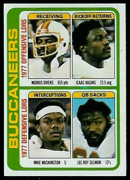 Buccaneers Leaders 1978 Topps football card