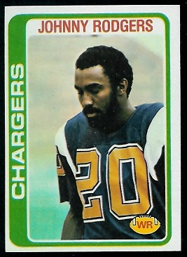Johnny Rodgers 1978 Topps football card