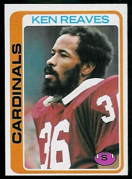 Ken Reaves 1978 Topps football card