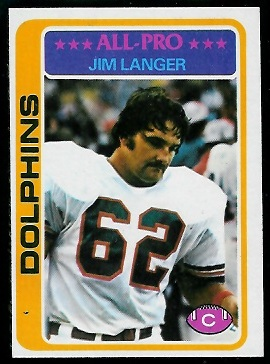 Jim Langer 1978 Topps football card