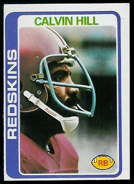 Calvin Hill 1978 Topps football card