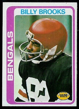Billy Brooks 1978 Topps football card