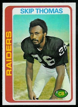 Skip Thomas 1978 Topps football card