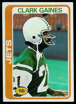 Clark Gaines 1978 Topps football card