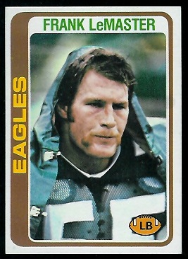 Frank LeMaster 1978 Topps football card