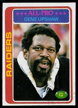 Gene Upshaw 1978 Topps football card
