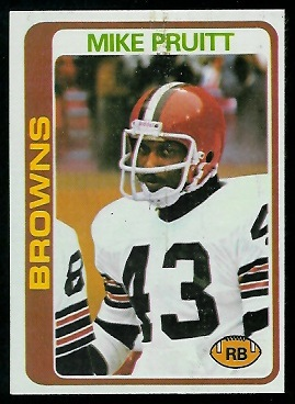 Mike Pruitt 1978 Topps football card