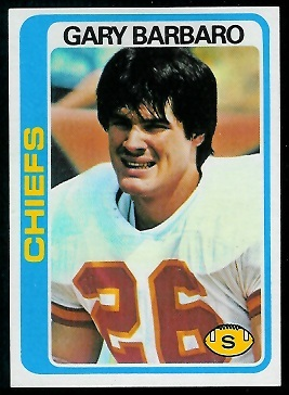Gary Barbaro 1978 Topps football card