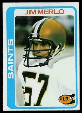Jim Merlo 1978 Topps football card