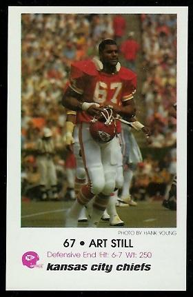 Art Still 1979 Chiefs Police 10 Vintage Football Card