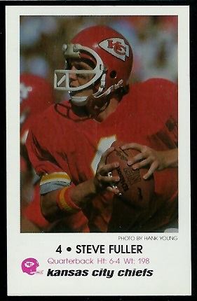 Steve Fuller 1979 Chiefs Police football card