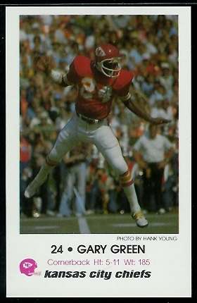 Gary Green 1979 Chiefs Police football card