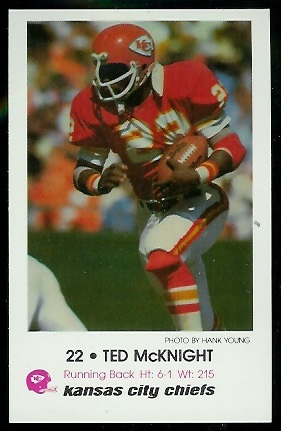 Ted McKnight 1979 Chiefs Police football card