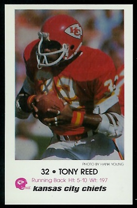 Tony Reed 1979 Chiefs Police football card
