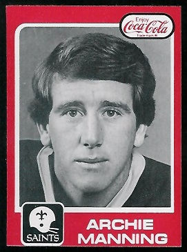 Archie Manning 1979 Coke Saints football card