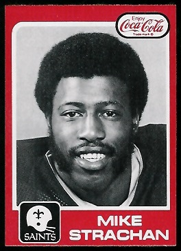Mike Strachan 1979 Coke Saints football card