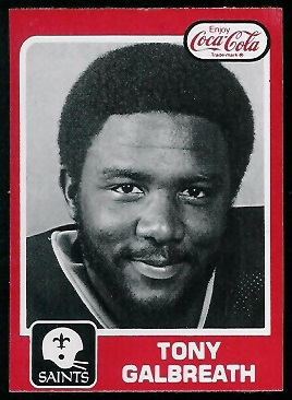 Tony Galbreath 1979 Coke Saints football card