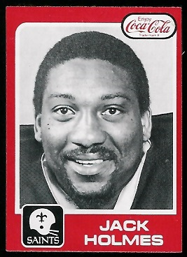 Jack Holmes 1979 Coke Saints football card
