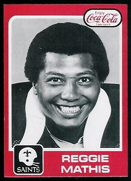 Reggie Mathis 1979 Coke Saints football card