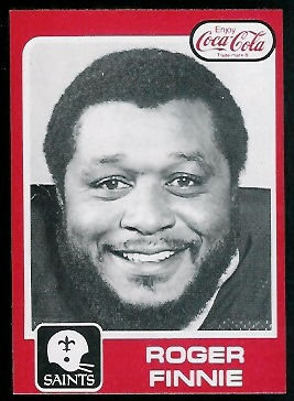 Roger Finnie 1979 Coke Saints football card