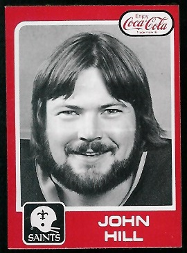 John Hill 1979 Coke Saints football card