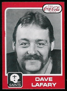 Dave Lafary 1979 Coke Saints football card