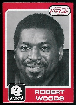 Robert Woods 1979 Coke Saints football card