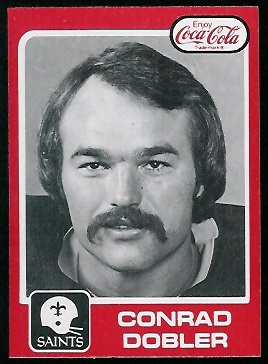 Conrad Dobler 1979 Coke Saints football card