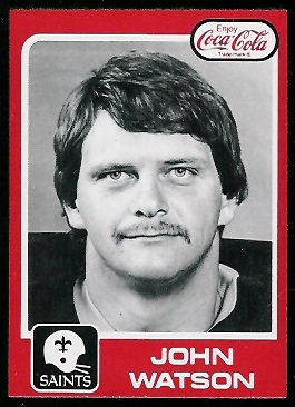John Watson 1979 Coke Saints football card