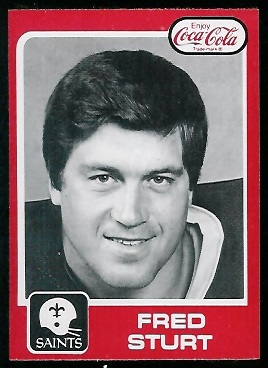 Fred Sturt 1979 Coke Saints football card