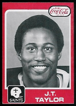 J.T. Taylor 1979 Coke Saints football card