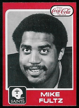 Mike Fultz 1979 Coke Saints football card