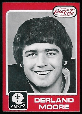 Derland Moore 1979 Coke Saints football card