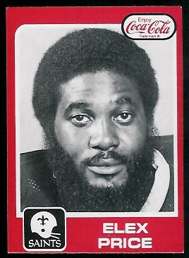 Elex Price 1979 Coke Saints football card