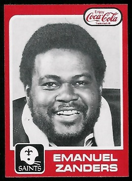 Emanuel Zanders 1979 Coke Saints football card