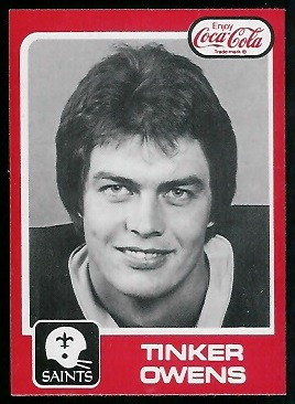 Tinker Owens 1979 Coke Saints football card
