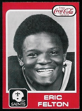 Eric Felton 1979 Coke Saints football card