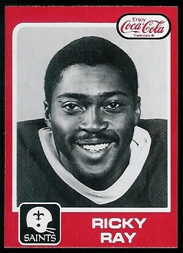 Ricky Ray 1979 Coke Saints football card
